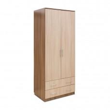 Шкаф 2-х дверный — 2 ящика»Камелия» Ясень т/Ясень св