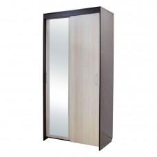 Шкаф — КУПЕ 2-х дв №1. «Камелия» с зеркалом   Венге/Бел.дуб